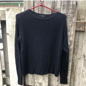 Talula black slightly cropped textured sweater XS